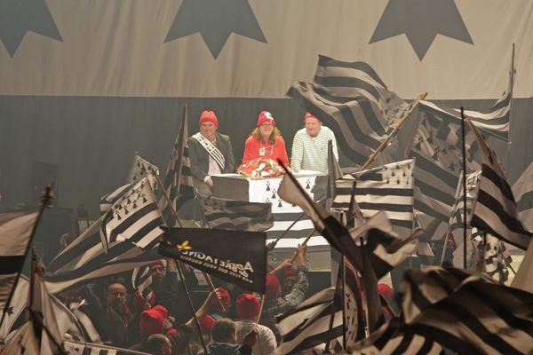 Les Bonnets Rouges ici à Morlaix lors des Etats Généraux du mouvement en mars.