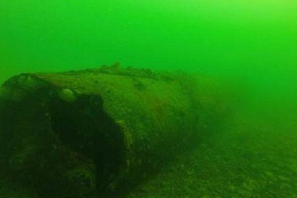 La mine anglaise de 600kg repose en rade de Brest depuis la seconde guerre mondiale
