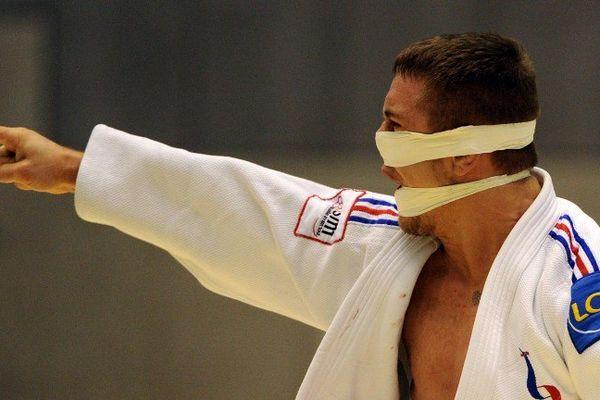 Loïc Pietri après sa victoire en quart de finale à Tokyo