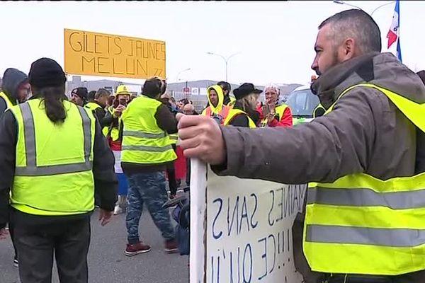 Rassemblement des gilets jaunes à Meaux (Seine-et-Marne), samedi 23 mars, pour un nouveau samedi de mobilisation, dans le calme.