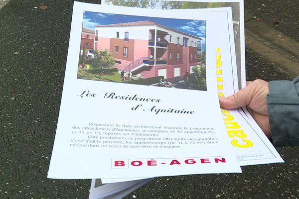 """Les """"Résidences d'Aquitaine"""", le projet immobilier tel qu'il a été présenté en 2009"""