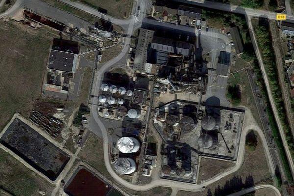 Le site de la distillerie Tereos à Val-des-Marais.