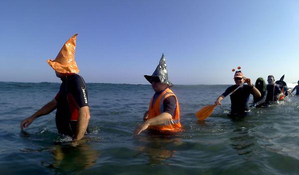 Le club Corsica Pass'In L'acqua lors d'une sortie spéciale Halloween, ce samedi 26 octobre