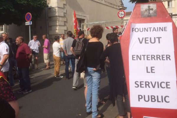 Manifestation des agents territoriaux à La Rochelle