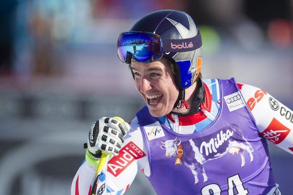 Valentin Giraud-Moine (ici lors de la coupe du monde de Kvitfjell en Norvège, le 12 mars dernier)