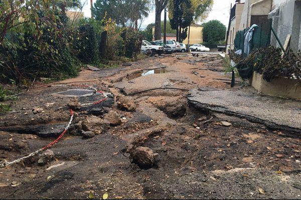 De violentes pluies ont provoqué de gros dégâts dans les Alpes-Maritimes durant le dernier trimestre de 2019.