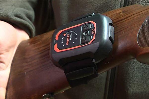 Le boitier Protect Hunt vibre si l'on sort de sa zone de tir.