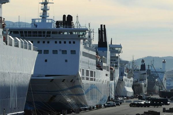 Port de Marseille, le 6 janvier 2014