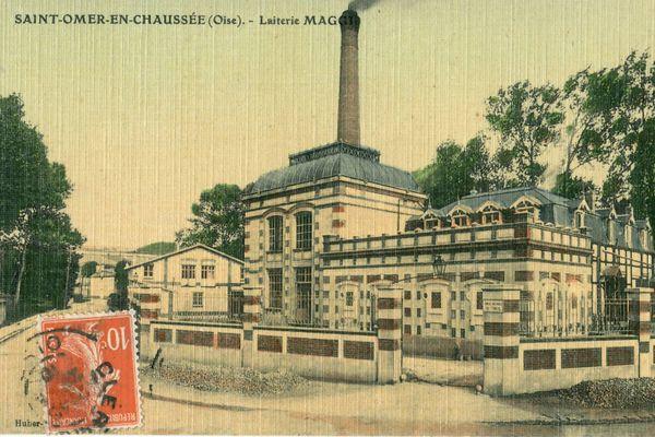 La laiterie Maggi à Saint-Omer-en-Chaussée dans l'Oise
