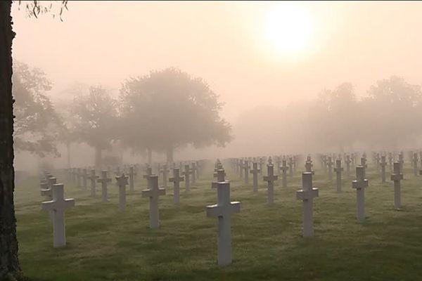 Le plus grand cimetière américain d'Europe pour la 2e guerre mondiale à Saint-Avold.