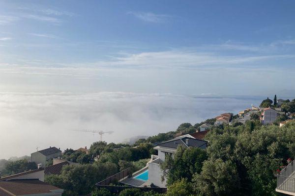 Brume à Bastia