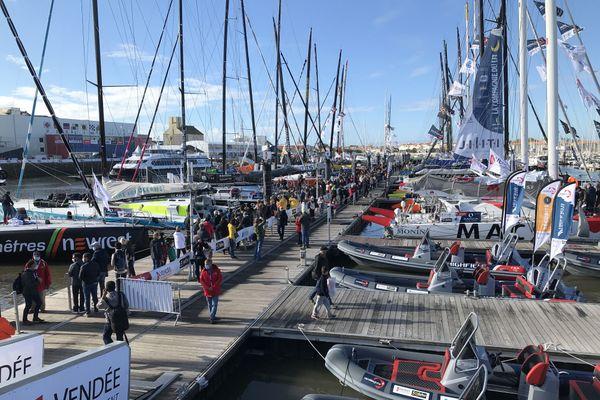 les pontons du Vendée Globe durant le mois d' octobre 2020