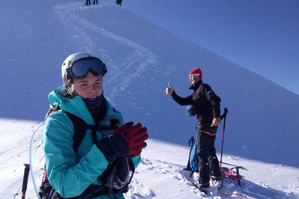 La normande Charline Pouillet pendant son ascension du Mont Blanc