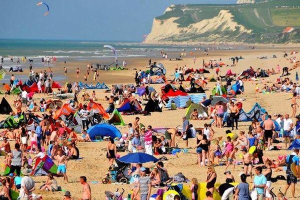 La plage de Wissant (août 2012).