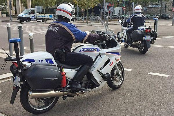 Motards de la police de Rouen / Archives