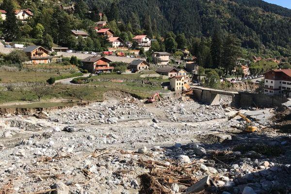 8 octobre 2020, vue de Saint Martin Vésubie (Alpes-Maritimes), après le passage de la tempête Alex.