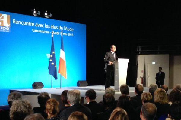 La visite de François Hollande à Carcassonne en mai 2015.