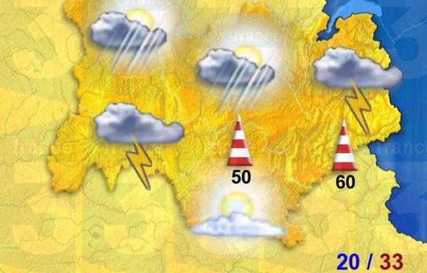 Les orages devraient se généraliser mardi.