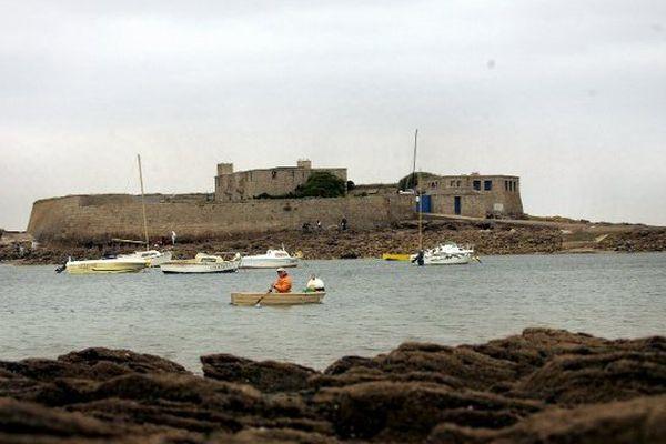 Fort Bloqué à marée basse.