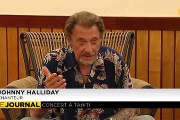 Johnny Hallyday lors de l'interview donné à Polynésie 1ère.