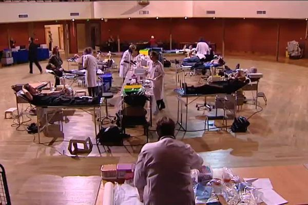 A Besançon, une collecte a été organisée en urgence au Kursaal