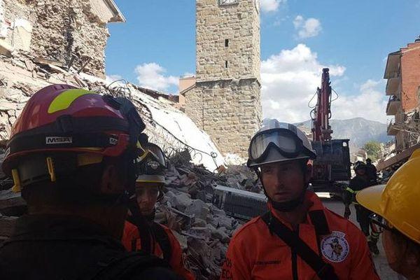 Les membres de BIRTA France en intervention dans le centre de l'Italie suite au violent séisme