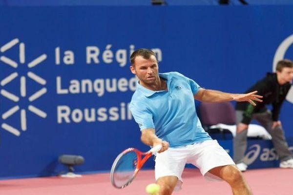 Open Sud de France à Montpellier - le Français Marc Gicquel - 4 février 2014
