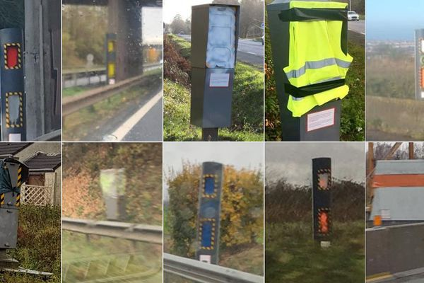 Des photos de radars endommagés dans le Nord et le Pas-de-Calais