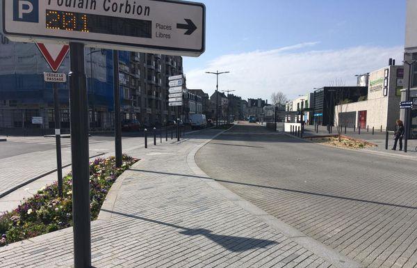 Circulation plus que fluide et stationnement facile à Saint-Brieuc depuis le début du confinement.