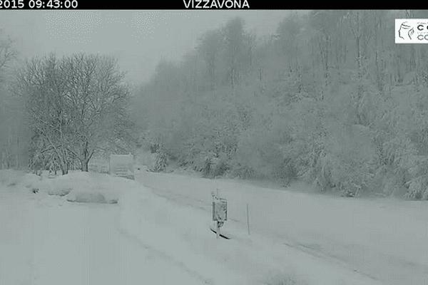 ILLUSTRATION - Le col de Vizzavona vu grâce à la webcam de la CTC.