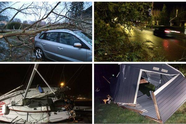 La tempête hivernale qui a touché la Normandie ce jeudi 12 janvier a provoqué de nombreux dégâts.