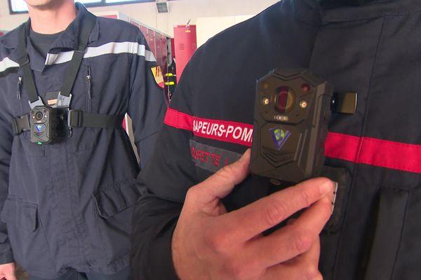 Caméras piétons équipant les sapeurs pompiers des Pyrénées-Orientales