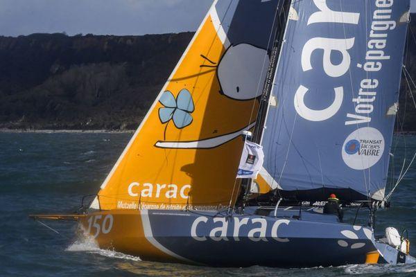 A bord de leur class40 Carac, Alexis Loison et Louis Duc ont pris ce mardi les commandes de la Transat Jacques Vabre dans leur catégorie.
