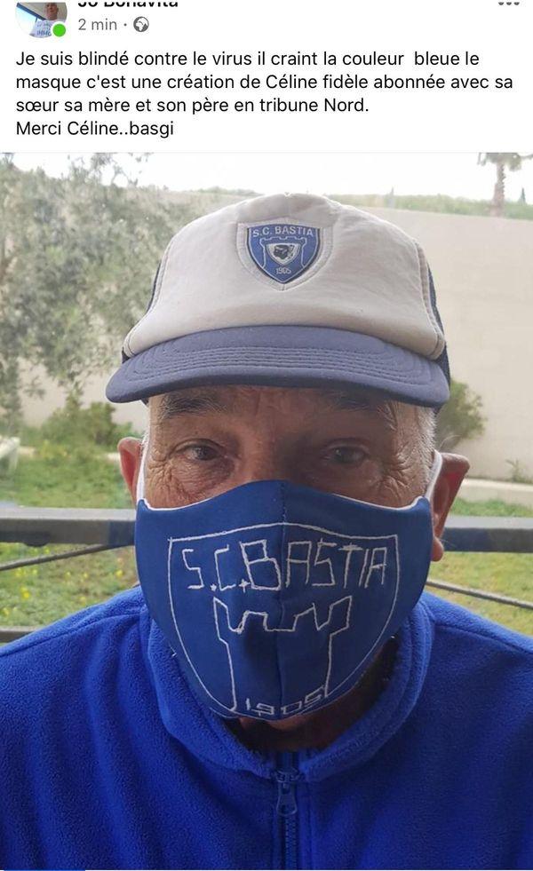 Jo Bonavita s'est affiché fièrement avec son masque du Sporting en cette période de confinement, lui qui sait ce que représente ce 5 mai dans l'histoire du club.