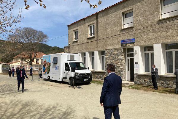 Le premier bus France Service de Corse inauguré par la ministre de la Cohésion des territoires ce lundi 26 avril à Ponte-Leccia.