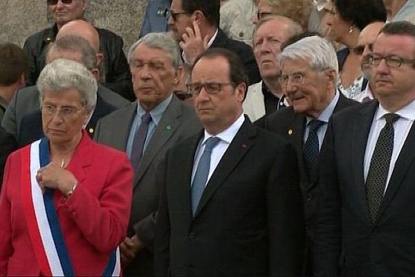François Hollande et Christian Paul à Dun les Places, dans la Nièvre, dimanche 26 juin 2016