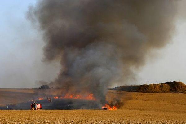 Dans la Somme, plus de 200 hectares ont brûlé en une seule journée (image d'illustration).