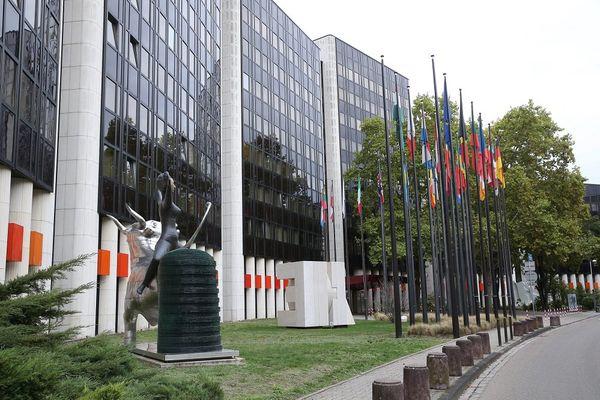 Le bâtiment IPE1 Winston Churchill du Parlement Européen à Strasbourg