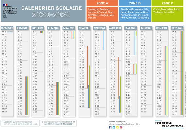 Calendrier Scolaire Septembre 2021 Rentrée : voici le calendrier scolaire et les dates des vacances