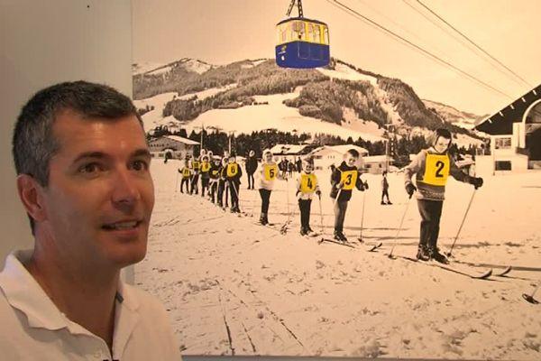 Olivier Tops a ajouté de la peinture acrylique sur cette photographie de l'un de ses aïeux.