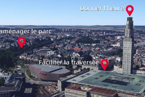 Propositions d'aménagements pour la ville d'Amiens