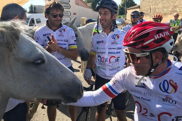 Montpellier - Il s'agit de la 3e édition de ce tour en faveur de la lutte contre la BPCO. 23 septembre 2021.