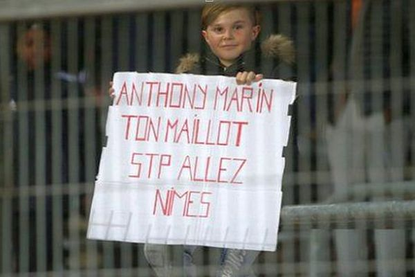 Le jeune supporter d'Anthony Marin