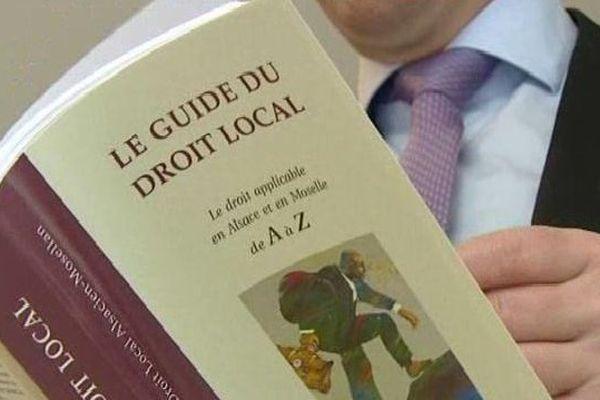 L'institut a publié un nouvel ouvrage consacré au droit local