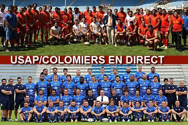 Perpignan VS Colomiers - Championnat de France Pro D2 2014/2015