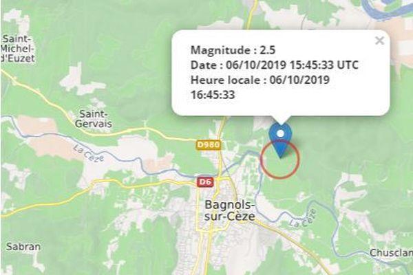 Tremblement de terre dans le Gard Rhodanien