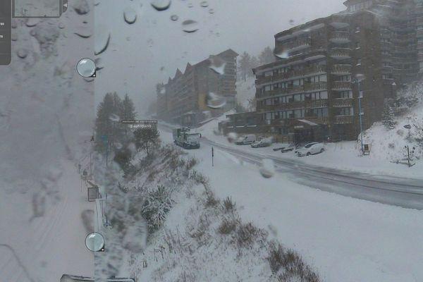 Isola 2000 sous la neige, dimanche 28 octobre au matin
