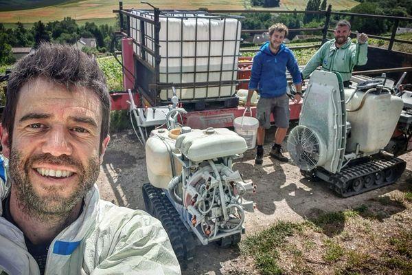 David Faivre, vigneron à Belval-sous-Châtillon dans la Marne, partage régulièrement les étapes de fabrication de son champagne sur les réseaux sociaux.