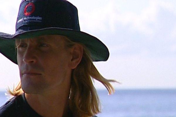 Loïc Leferme en septembre 2000 dans la baie de Cannes