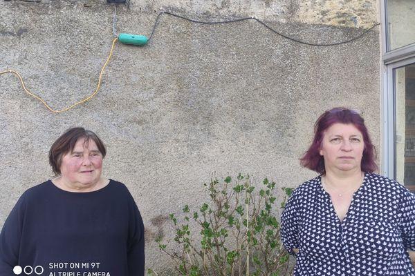 Anne-Marie Michel et Danièle Quentin vivent sans eau courante